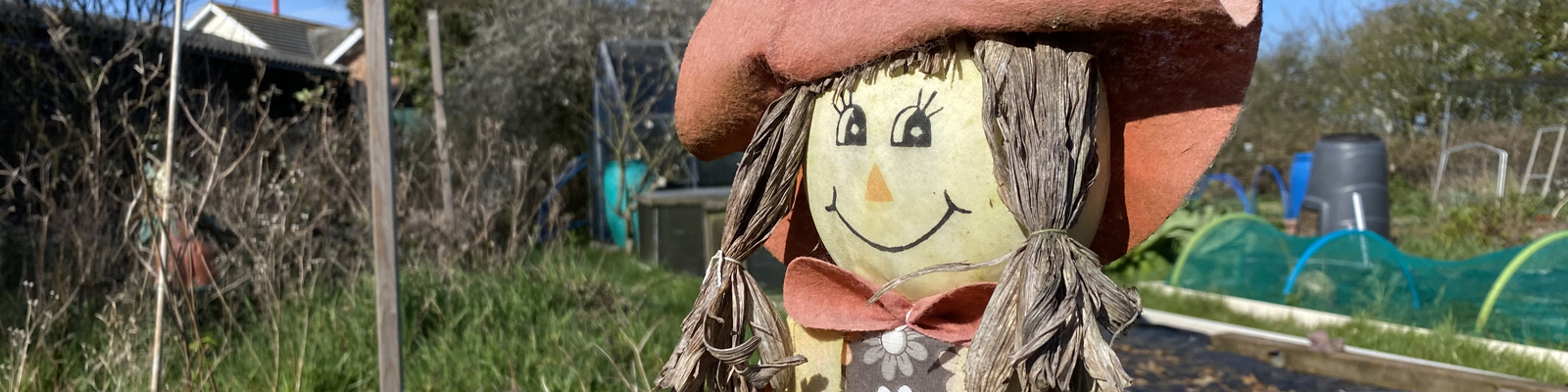 Tollesbury Parish Council, Allotments, Scarecrow In Tollesbury Allotment