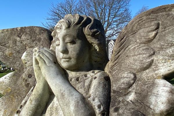 Tollesbury Parish Council, Cemetery, Angel Gravestone