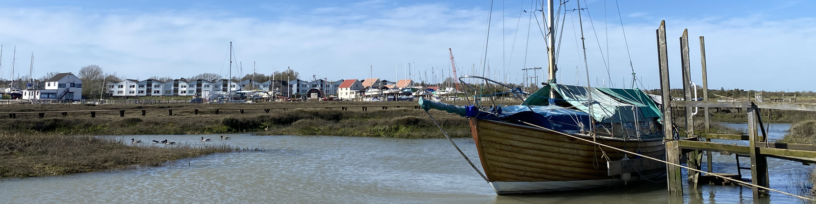 Tollesbury Parish Council, Our Parish Councillors, Boat Moored In Tollesbury Creek