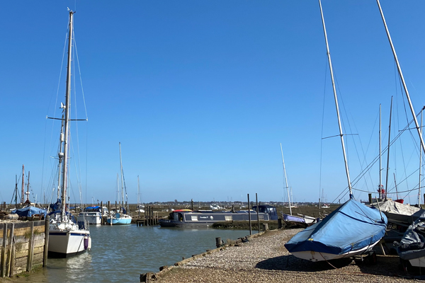 Tollesbury Parish Council, Documents and Downloads, View Of Boats Moored In The Creek
