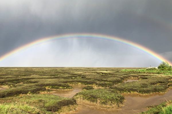 Tollesbury Parish Council, Rainbow Over Marsh At Low Tide
