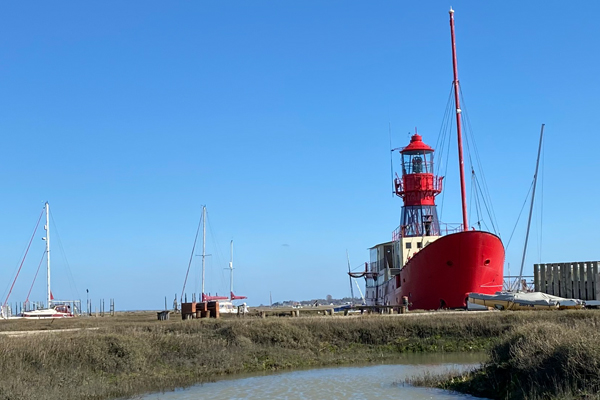 Tollesbury Parish Council, Agendas And Minutes, The Lightship Moored In The Saltings