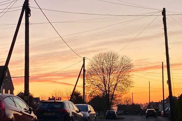 Tollesbury Parish Council, Neighbourhood Plan Committee, Sunset on West Street, Tollesbury