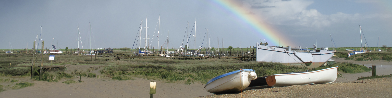 Tollesbury Parish Council, Roles And Responsibilities, Rainbow Over Creek At Low Tide
