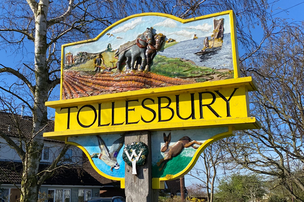 Tollesbury Parish Council, Documents And Downloads, Tollesbury Village Sign