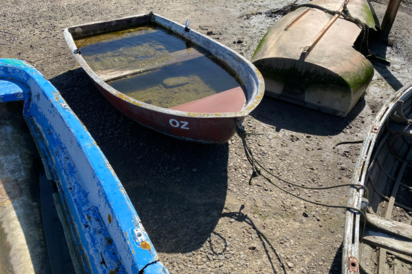 Tollesbury Parish Council, Boats At Low Tide